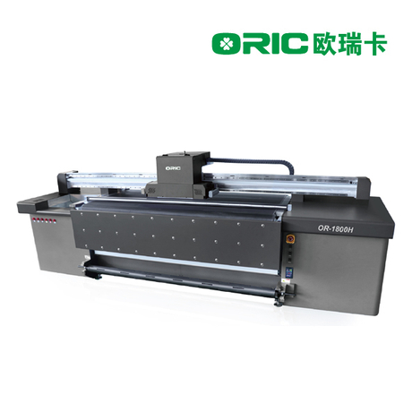 OR-1800H 1.8m UV Roll To Roll And Hybrid All-In-One Printer With 3-9pcs Ricoh Heads